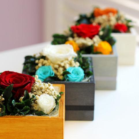 Aranżacja kompozycji z kwiatów stabilizowanych