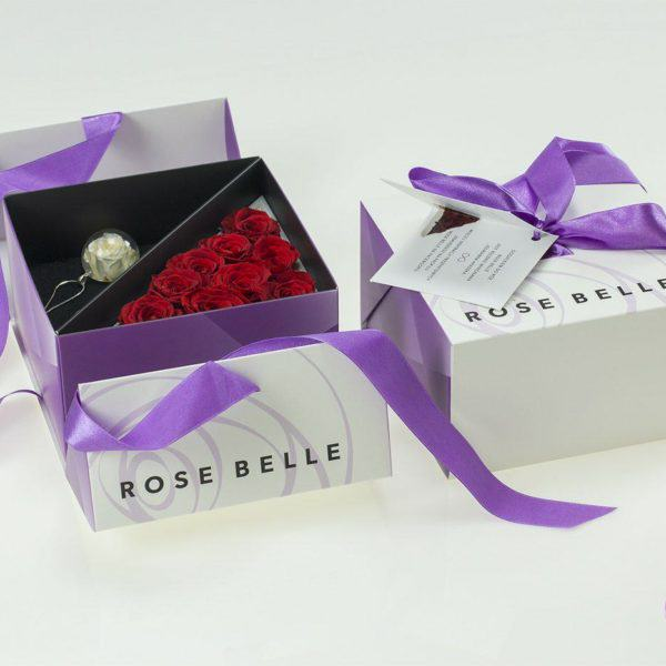 Rose Belle kwiaty w boxie
