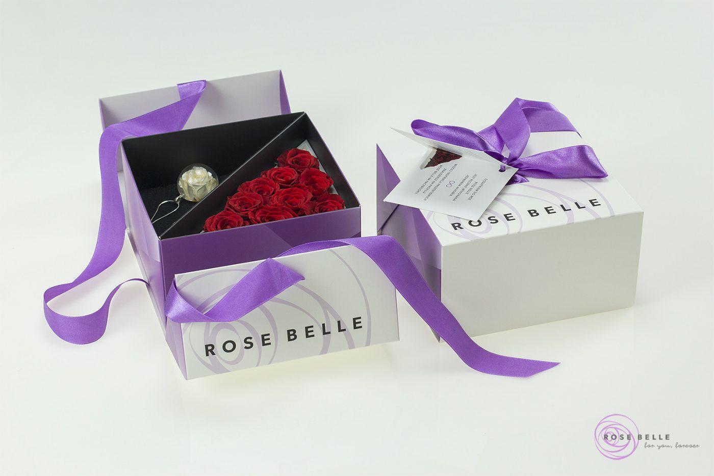 Rose Belle kwiaty w boxie